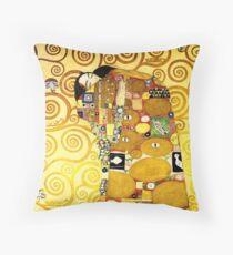 Gustav Klimt The Embrace Throw Pillow