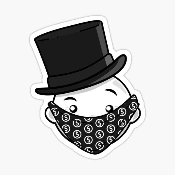 Mr. Monopoly Man (Gray) Sticker
