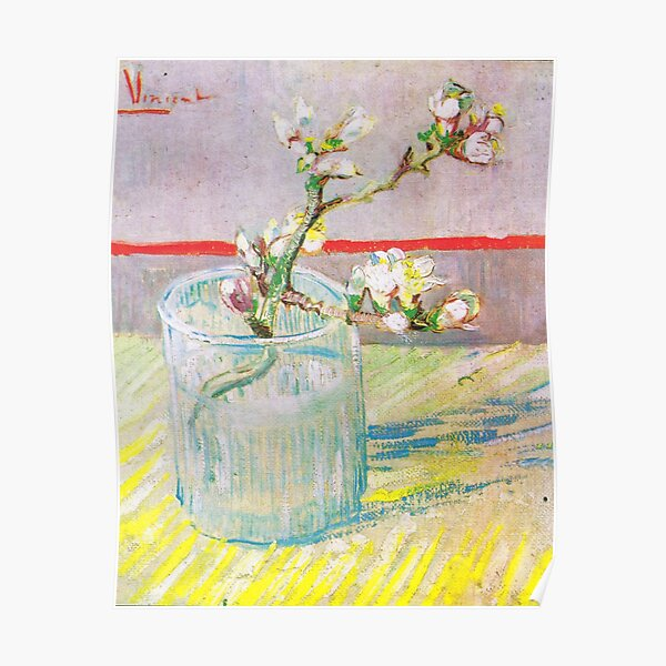 Vincent Van Gogh - Blossoming Almond Branch in a Glass Poster