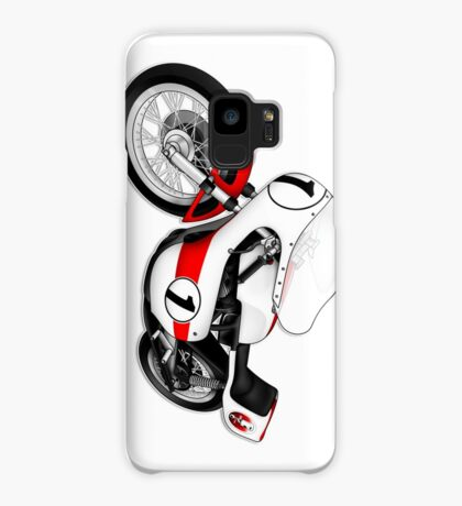 Motorcycle T-shirts Art: White & Red Case/Skin for Samsung Galaxy