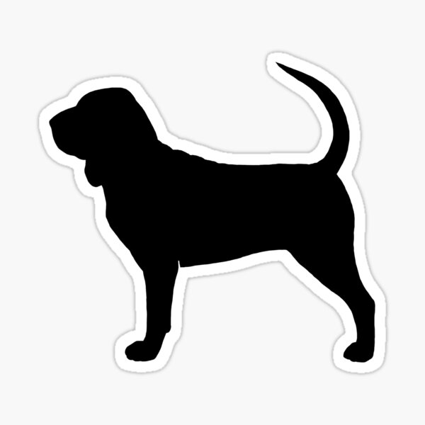 Bloodhound Silhouette(s) Sticker