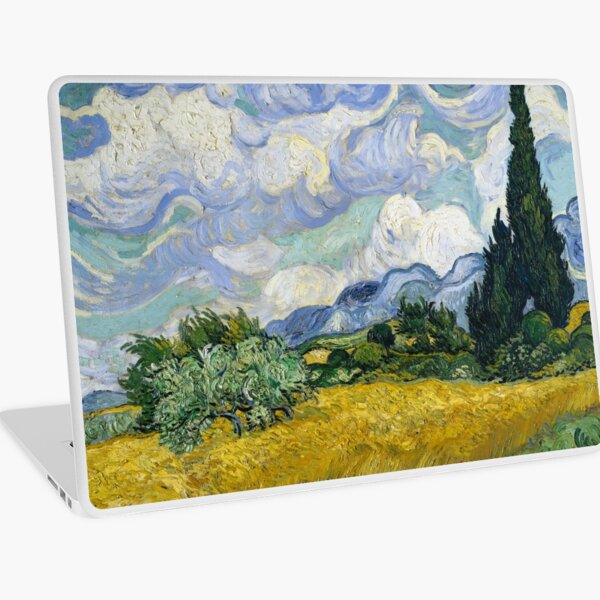 Vincent Van Gogh - Wheat Field with Cypresses Laptop Skin