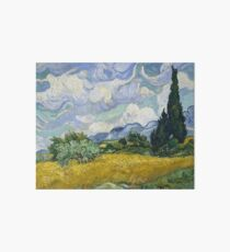 Vincent Van Gogh - Wheat Field with Cypresses Art Board