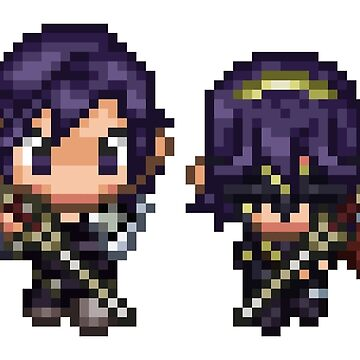 Pixel Chrom and Lucina (Marth) - Fire Emblem : Awakening by blindcoco