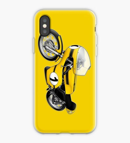 Motorcycle T-shirts Art: Yellow & black iPhone Case