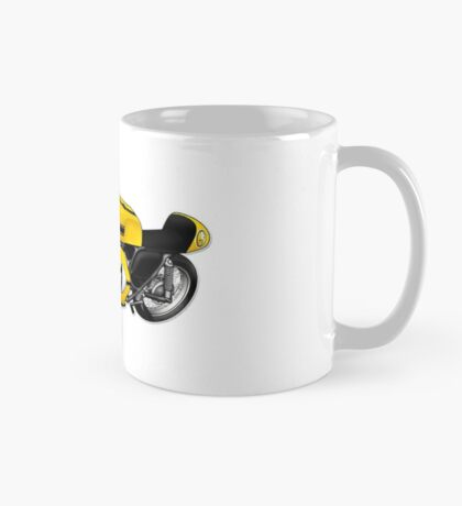 Motorcycle T-shirts Art: Yellow & black Mug