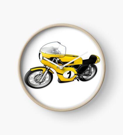 Motorcycle T-shirts Art: Yellow & black Clock