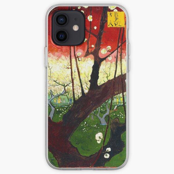 Van Gogh - Blühender Pflaumenobstgarten nach Hiroshige iPhone Flexible Hülle