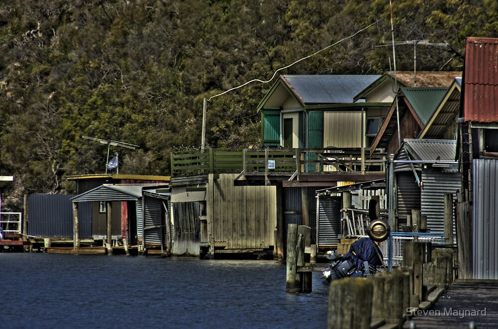 River Shacks by Steven Maynard