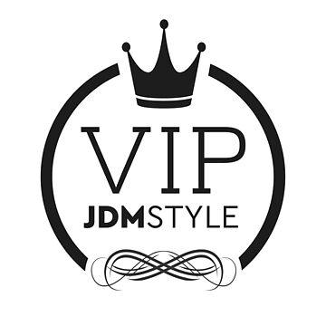 JDM VIP Style Tshirt - Black print by MarkPMB