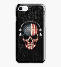 Dj Skull with American Flag iPhone Case/Skin
