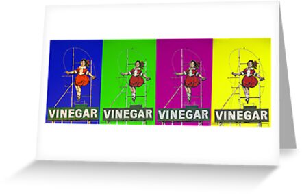 multi coloured skipping girl by Neil Mouat