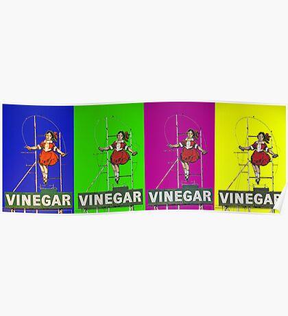 multi coloured skipping girl Poster