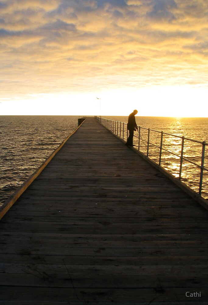 Jetty at Port Hughes, South Australia by Cathi Norman