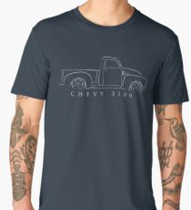 Chevy 3100 Pickup - profile stencil, white Men's Premium T-Shirt