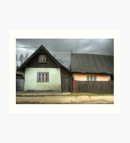 Shabby Houses Art Print