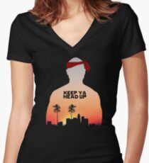 Keep It Up. Women's Fitted V-Neck T-Shirt