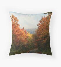 Fall in Pennsylvania - Greenland Road Throw Pillow