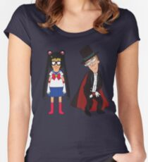 Tina Moon and Buttexdo Mask Women's Fitted Scoop T-Shirt