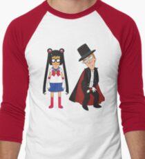 Tina Moon and Buttexdo Mask Men's Baseball ¾ T-Shirt