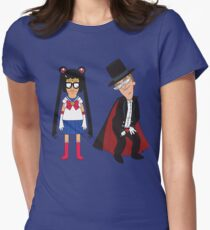 Tina Moon and Buttexdo Mask Womens Fitted T-Shirt