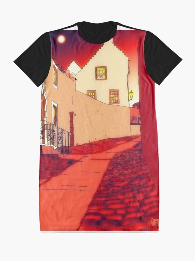 Alternate view of Dysart: Scottish Town digital drawing Graphic T-Shirt Dress