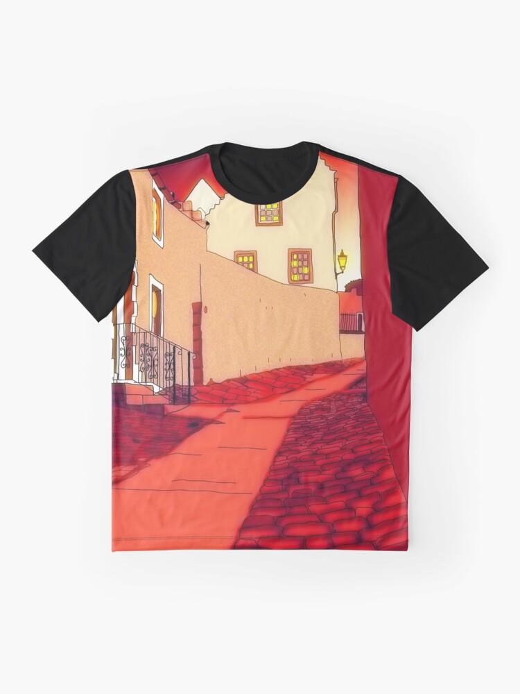 Alternate view of Dysart: Scottish Town digital drawing Graphic T-Shirt