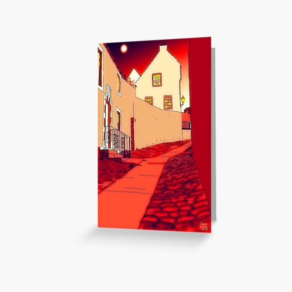 Dysart: Scottish Town digital drawing Greeting Card