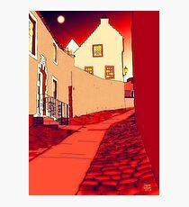 Dysart: Scottish Town digital drawing Photographic Print