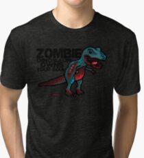 Zombie Dinosaur Tri-blend T-Shirt