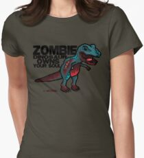 Zombie Dinosaur Women's Fitted T-Shirt