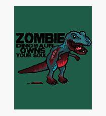 Zombie Dinosaur Photographic Print