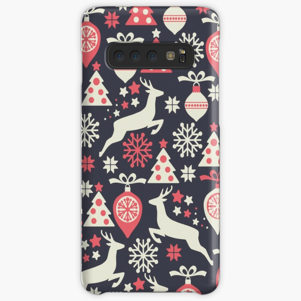 Vintage Retro Christmas Pattern Holiday Case & Skin for Samsung Galaxy