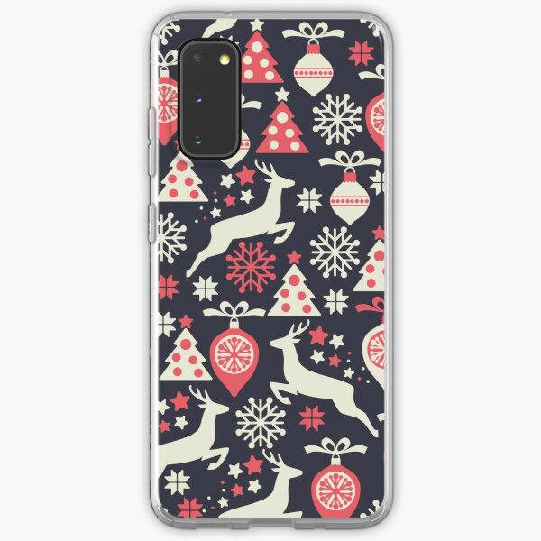 Vintage Retro Christmas Pattern Holiday Samsung Galaxy Soft Case