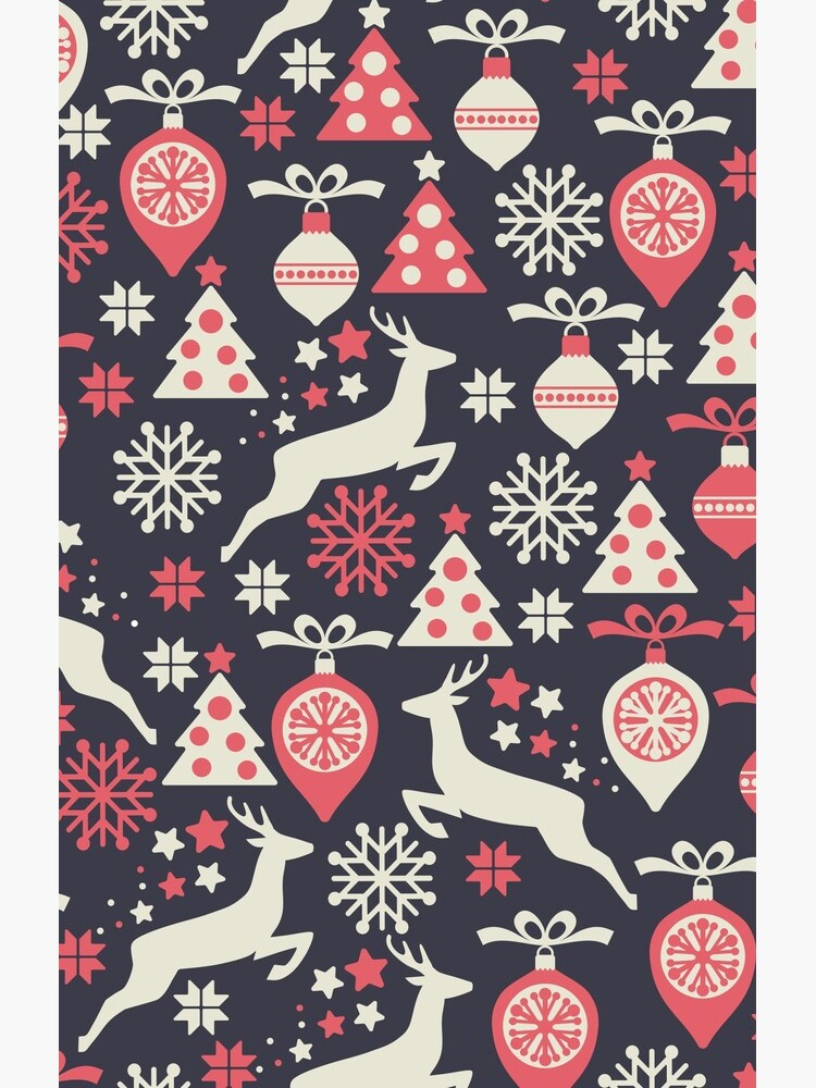 Vintage Retro Christmas Pattern Holiday by livianasgifts