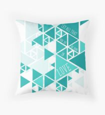 Let All That You Do Be Done In Love Geometrical Pattern Throw Pillow