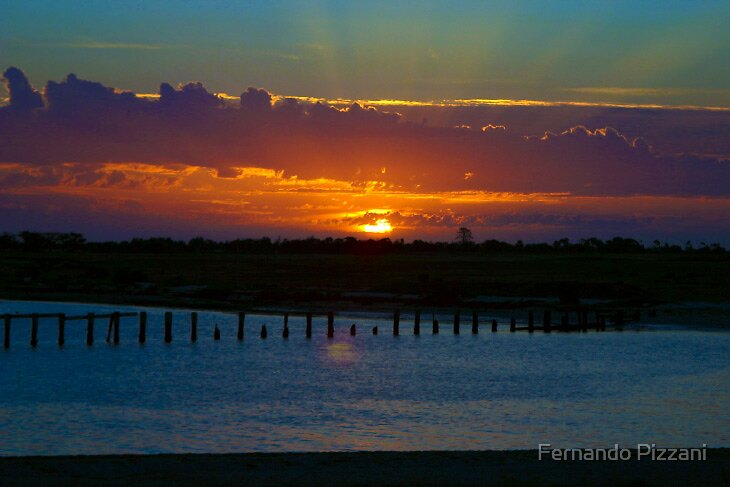 Sunset at Werribee River by Fernando Pizzani