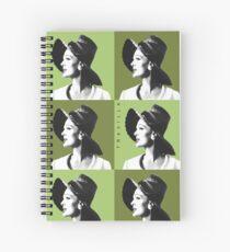 Candice Warhol Green Spiral Notebook