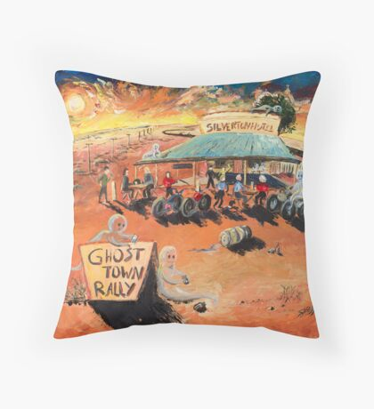 The Ghost Town Rally Throw Pillow