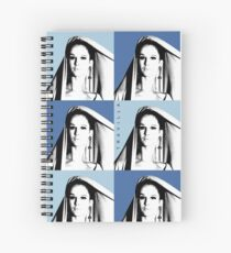 Pam Warhol Blue Spiral Notebook