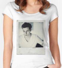 Celebrity: Bill Skarsgard [Polaroid] Women's Fitted Scoop T-Shirt