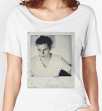 Celebrity: Bill Skarsgard [Polaroid] Women's Relaxed Fit T-Shirt