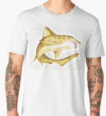 Brown Shark Splatter - Art By Kev G Men's Premium T-Shirt