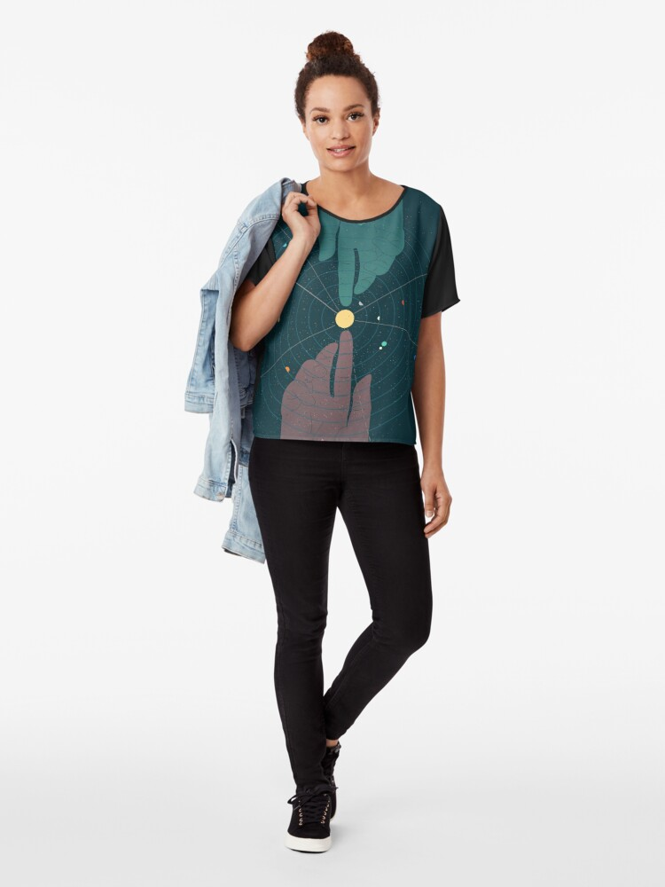 Alternate view of Parallel Universe Chiffon Top