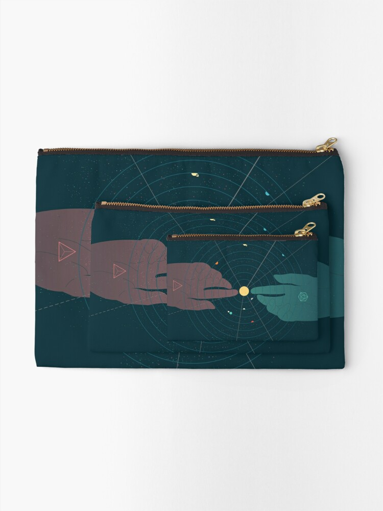 Alternate view of Parallel Universe Zipper Pouch