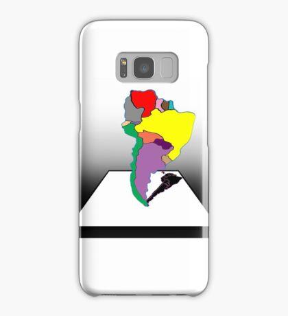 Anamorphic South America Samsung Galaxy Case/Skin