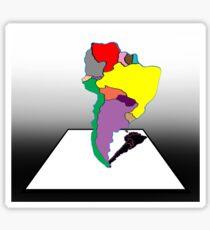 Anamorphic South America Sticker