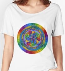 Epiphany Psychedelic Dragons Rainbow Mandala Women's Relaxed Fit T-Shirt
