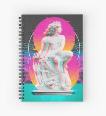 Vapor Wave Banner Spiral Notebook