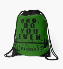 Bro, do you even leviosa? Drawstring Bag